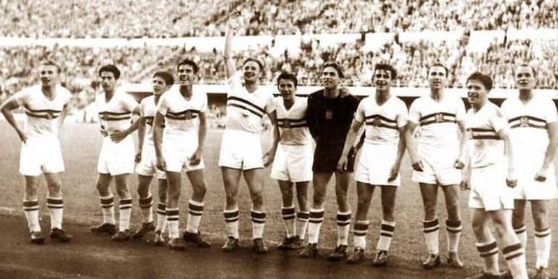equipo de futbol en el estadio
